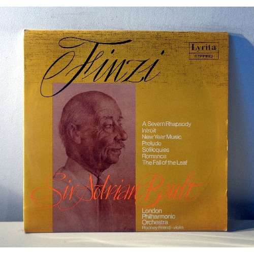 SIR ADRIAN BOULT & RODNEY FRIEND GERALD FINZI Music for orchestra and solo  violin