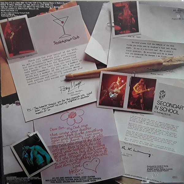 AC/DC High Voltage Coloured Vinyl