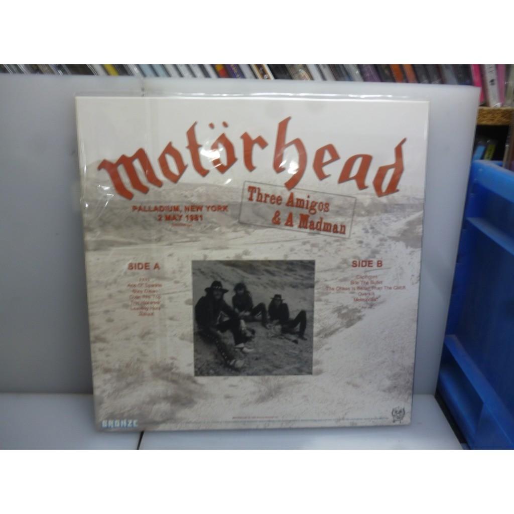 Motorhead Three Amigos & A Madman. Palladium, New York, USA 1981. EU 2019 Picture Vinyl LP+Poster.