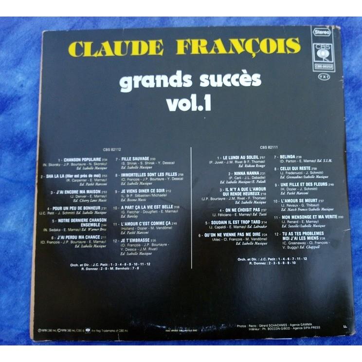FRANCOIS Claude GRANDS SUCCES VOL 1
