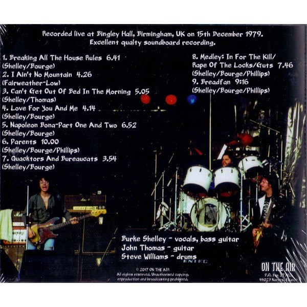Budgie Live In Birmingham 1979