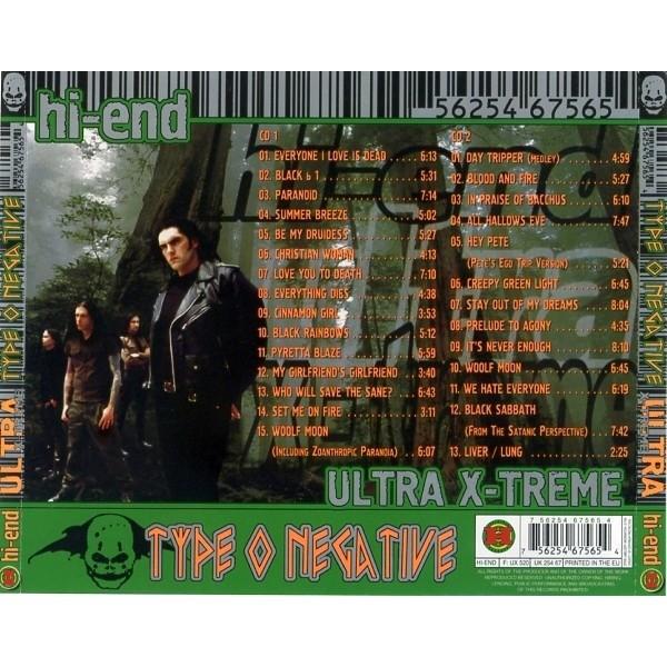 Type O Negative Hi-End Ultra X-Treme (2CD greatest hits compilation) Halahup
