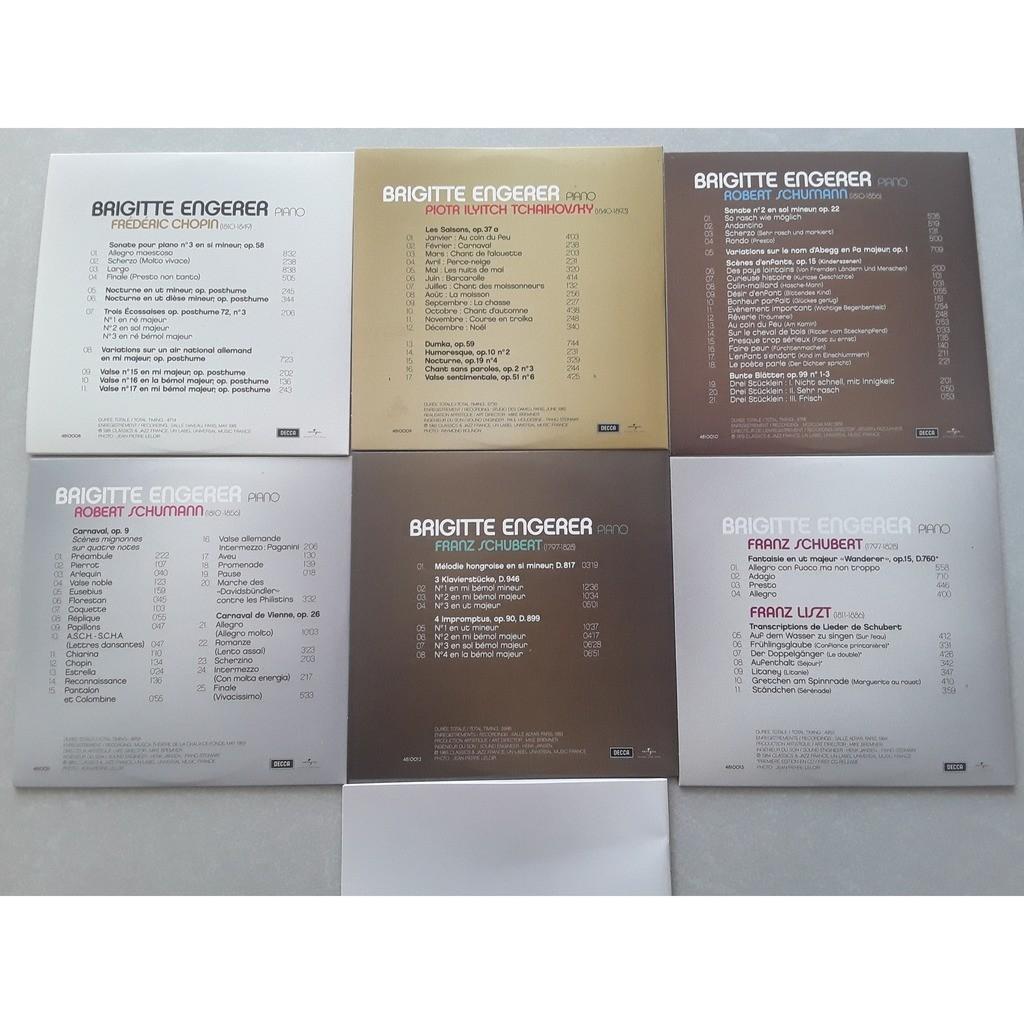 Brigitte Engerer - Chopin - Schubert - Schumann Coffret box 6 CD : L'art de Brigitte Engerer