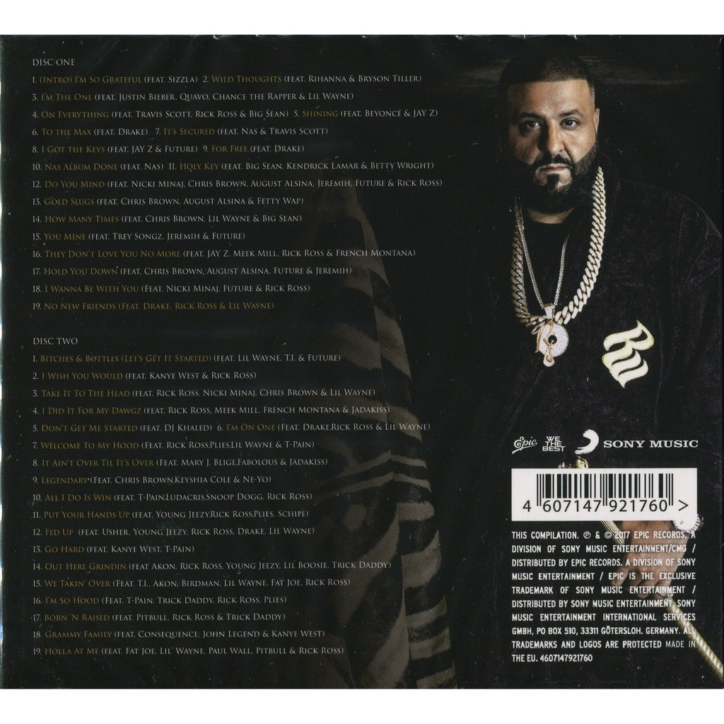 DJ Khaled Greatest Hits (2017) 2CD Digipak - New and Factory Sealed