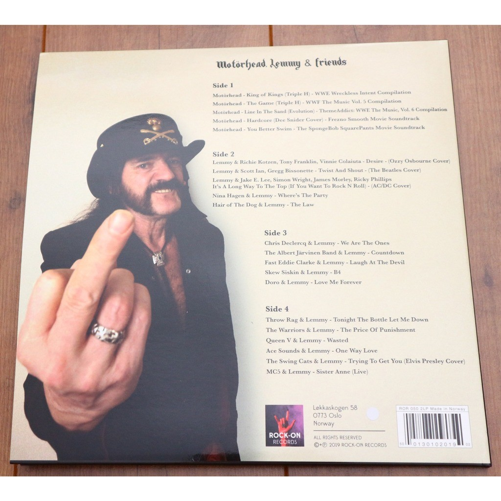 Motörhead, lemmy & friends vol 1 / limited edition 2lp, compilation, white  vinyl, 2019 by Motörhead, LP x 2 with susidangerq