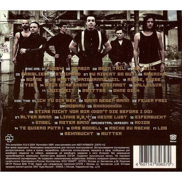Rammstein Greatest Hits (2009) 2CD Digipak - New and Factory Sealed