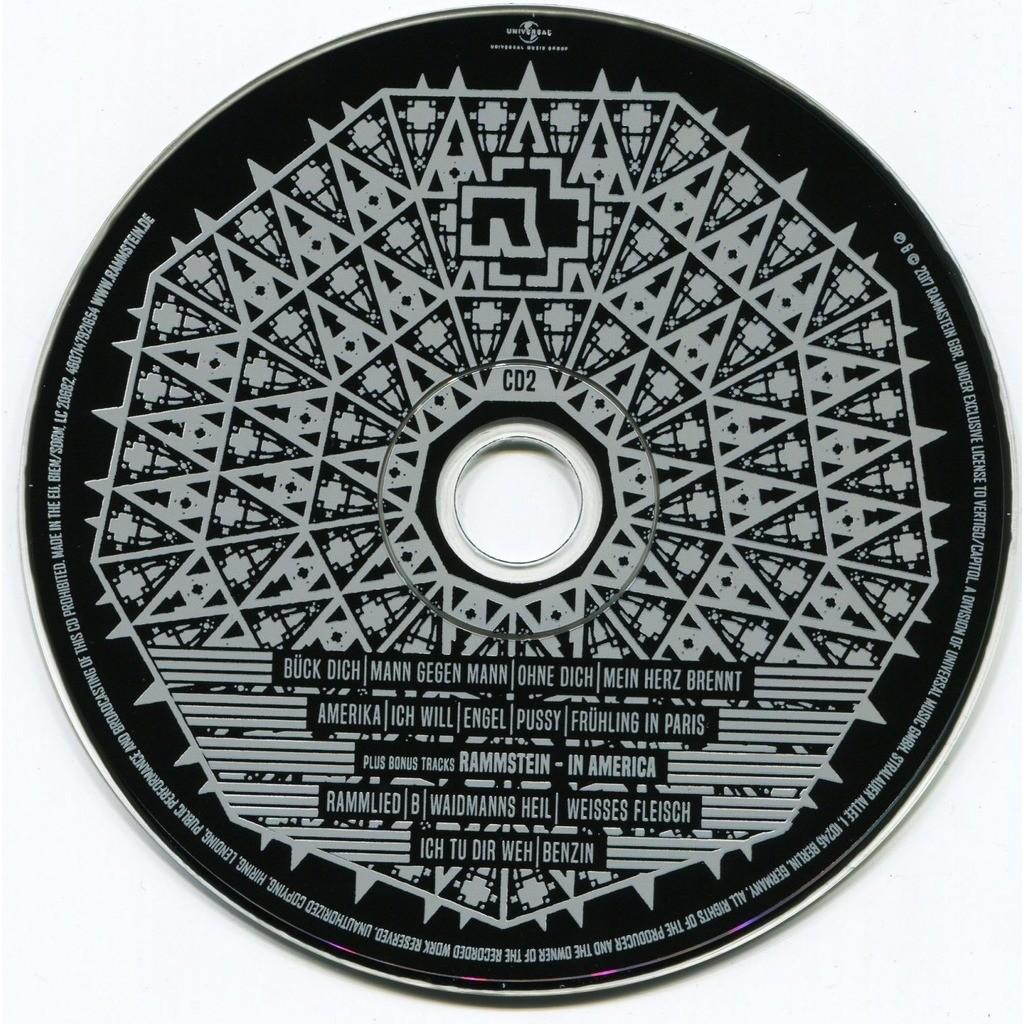 Rammstein Paris (Concert) 2CD (2017) + 6 bonus tracks from In America (Digipak) New and Factory-Sealed
