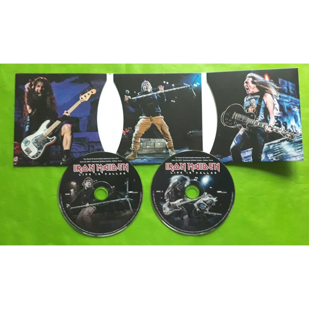 IRON MAIDEN LIVE IN DALLAS -(Limited édition)(2CD)(Digipack)(Original)(2017)(Russia)