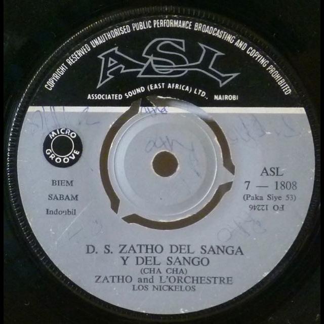 ZATHO and l'ORCHESTRE LOS NICKELOS D.S. Zatho del sanga y del sango / Evasion surprise A moi akoti lopalo