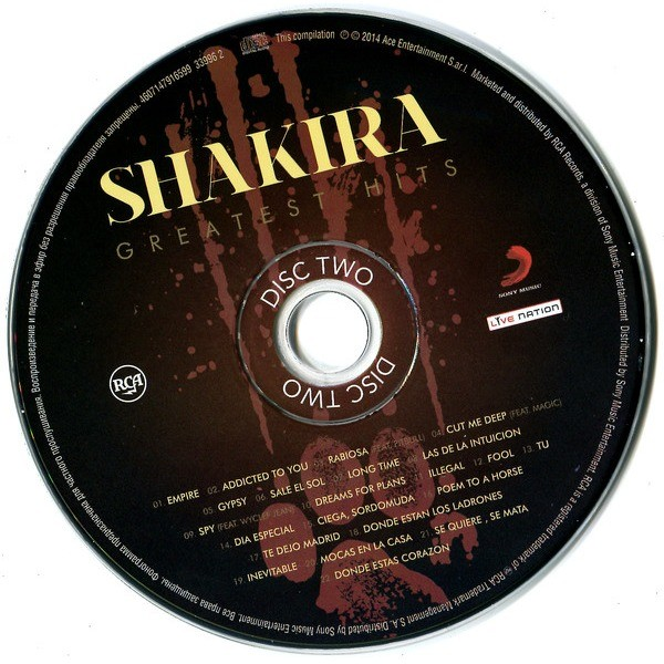 SHAKIRA Greatest Hits (2014) (44-track 2CD compilation, triple foldout digipack)(factory sealed)