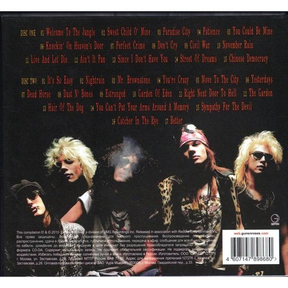 Guns N' Roses Greatest Hits (2010) 2CD Digipak - New and Factory Sealed