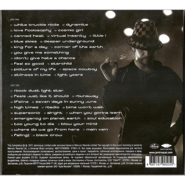 JAMIROQUAI Greatest Hits 2CD (2011 edition, 38-track compilation, triple foldout dIgipack)(factory sealed)