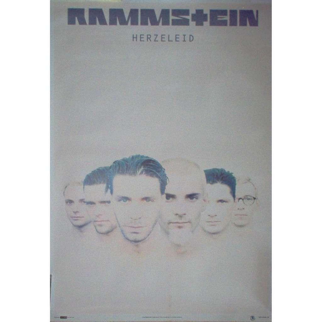 Rammstein Herzeleid (UK 1999 'Splash' official licensed original 'album release' promo poster!)