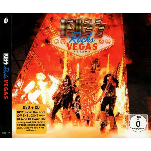 Kiss Kiss Rocks Vegas (2013) CD+DVD Digipak New and Factory-Sealed