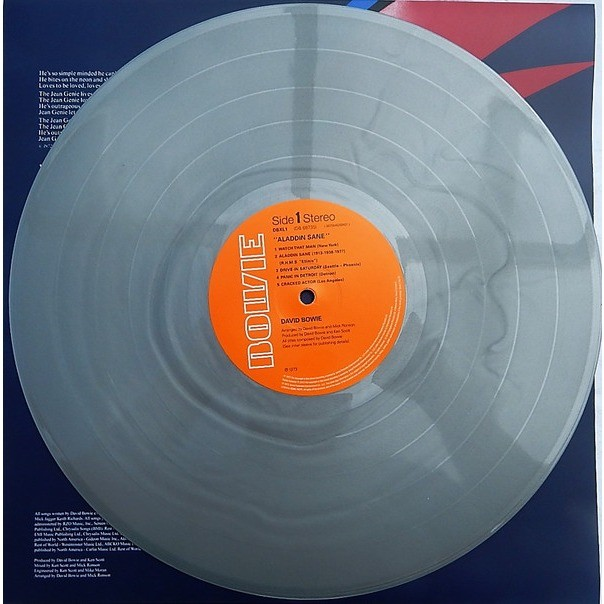 david bowie ALADDIN SANE 45th Anniversary Silver Vinyl