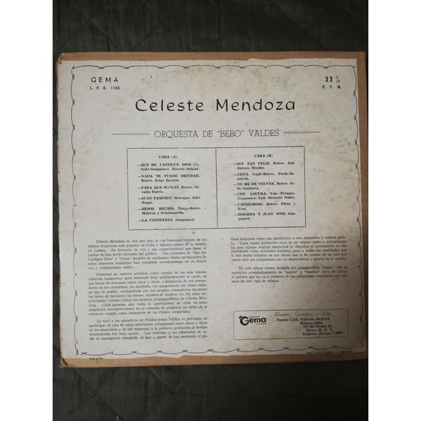 Celeste Mendoza Orquesta de Bebo Valdes Celeste Mendoza Orquesta de Bebo Valdes