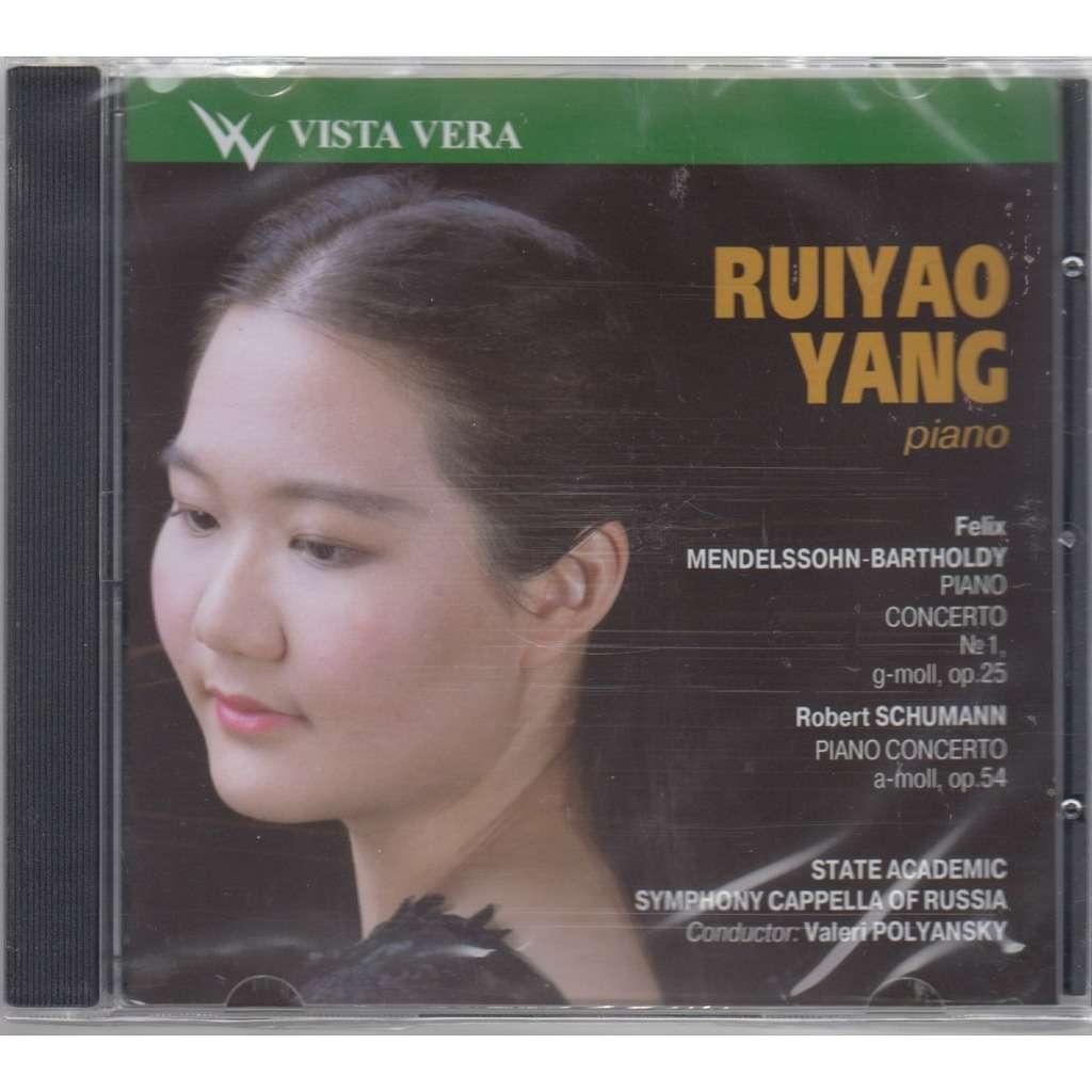 RUIYAO YANG Mendelssohn Schumann Piano Concertos POLYANSKY CD RUS NEW