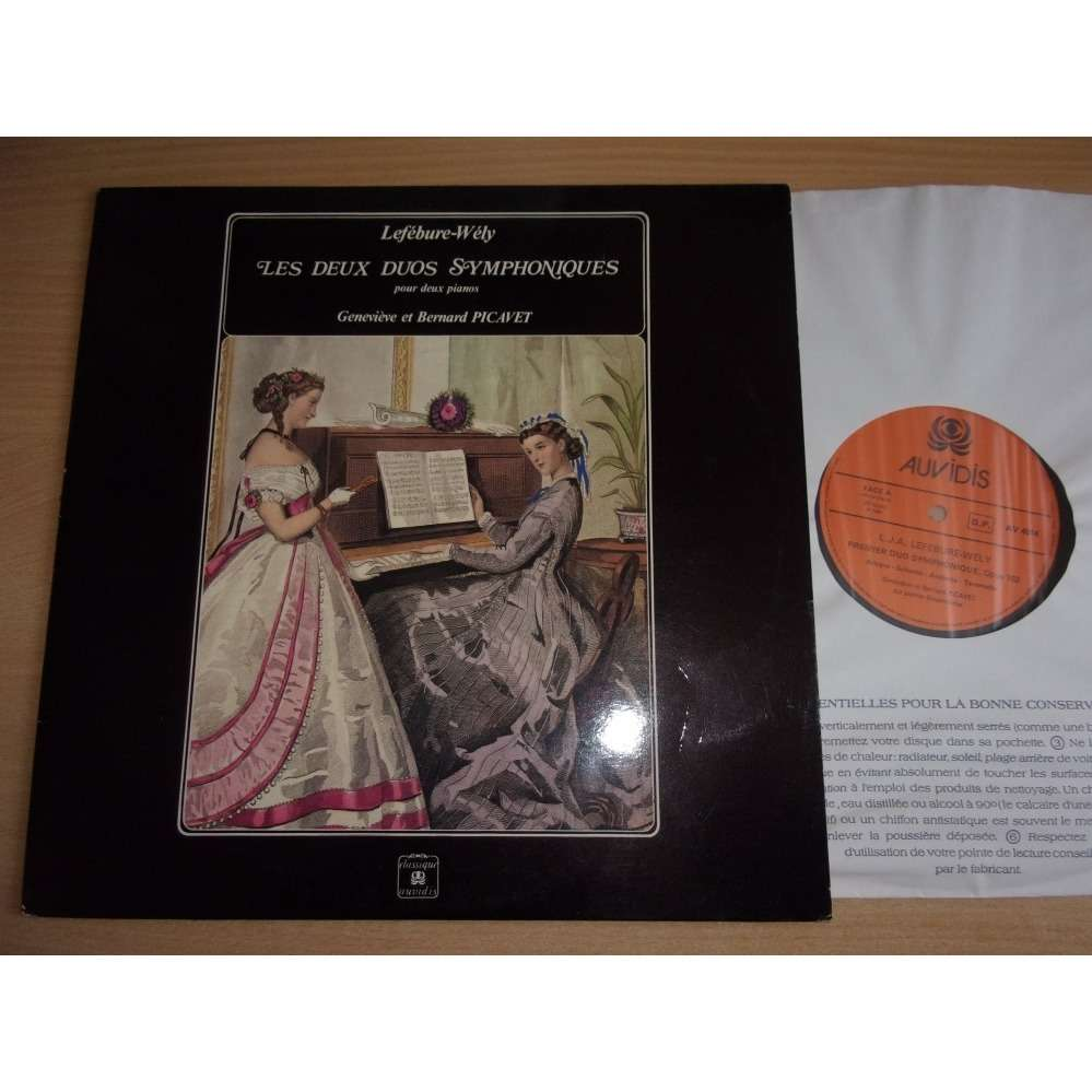 Genevieve et Bernard PICAVET - Lefebure-Wely Les Deux Duos Symphoniques Pour Deux Pianos - Lefébure-Wély [Louis James Alfred Lefébure-Wély]