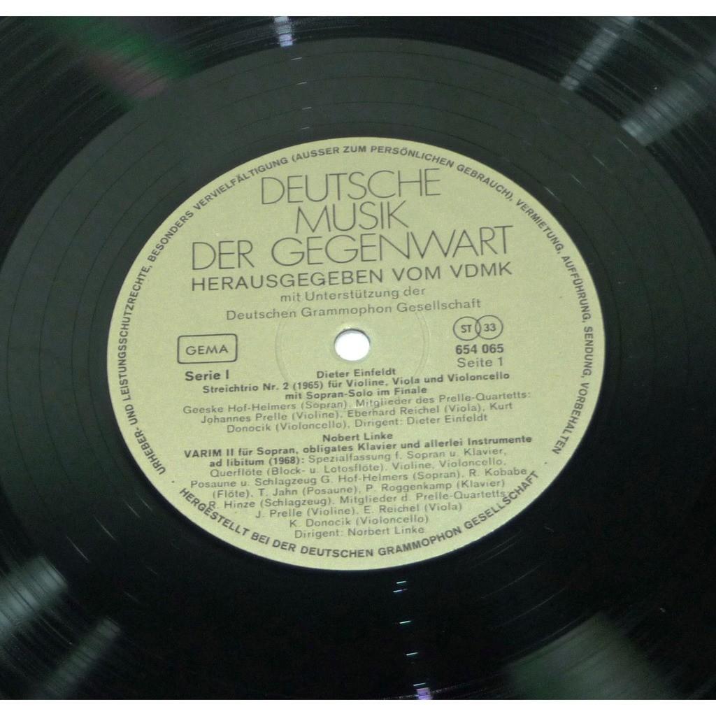 Dieter Einfeldt Norbert Linke Diether La Motte ... Deutsche Musik Der Gegenwart Serie I/5