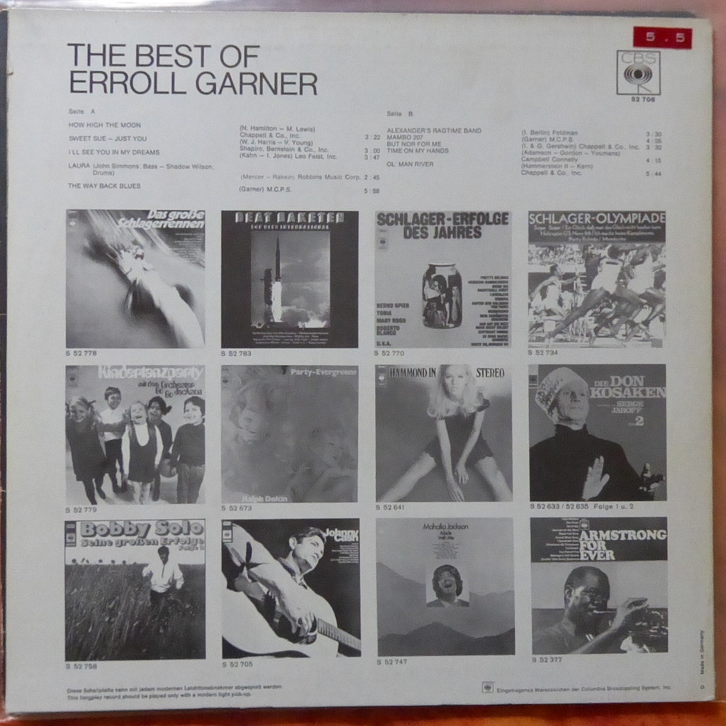 ERROL GARNER THE BEST OF