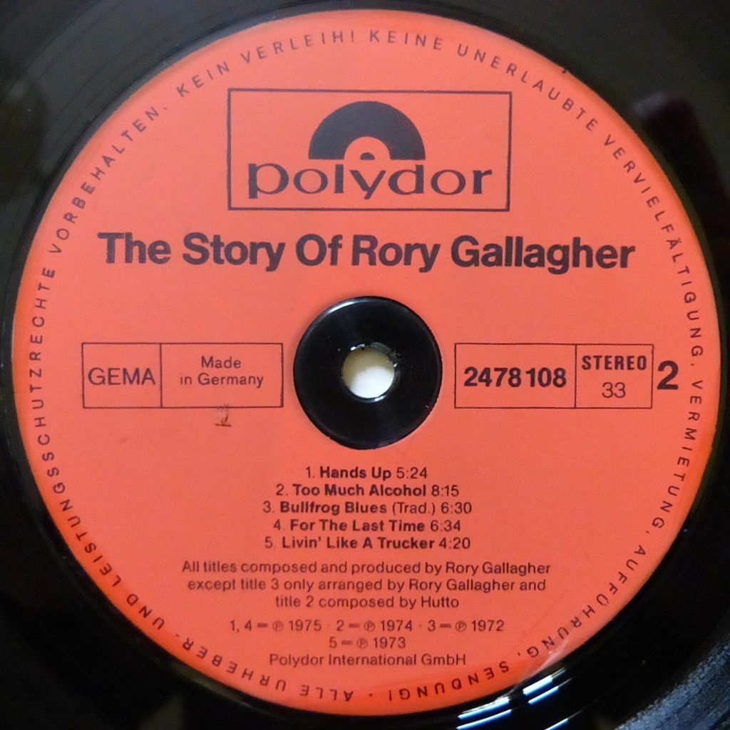 RORY GALLAGHER THE STORY OF