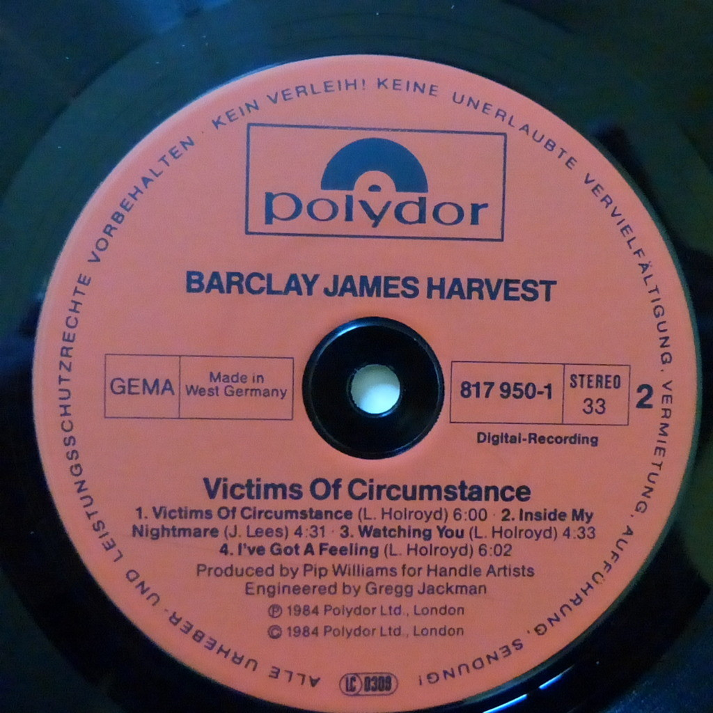 BARCLAY JAMES HARVEST VICTIMS OF CIRCUMSTANCE