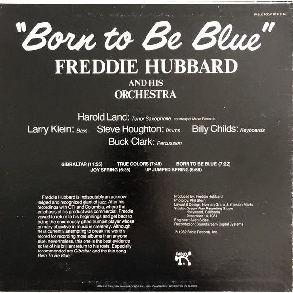 Freddie Hubbard And His Orchestra Born To Be Blue