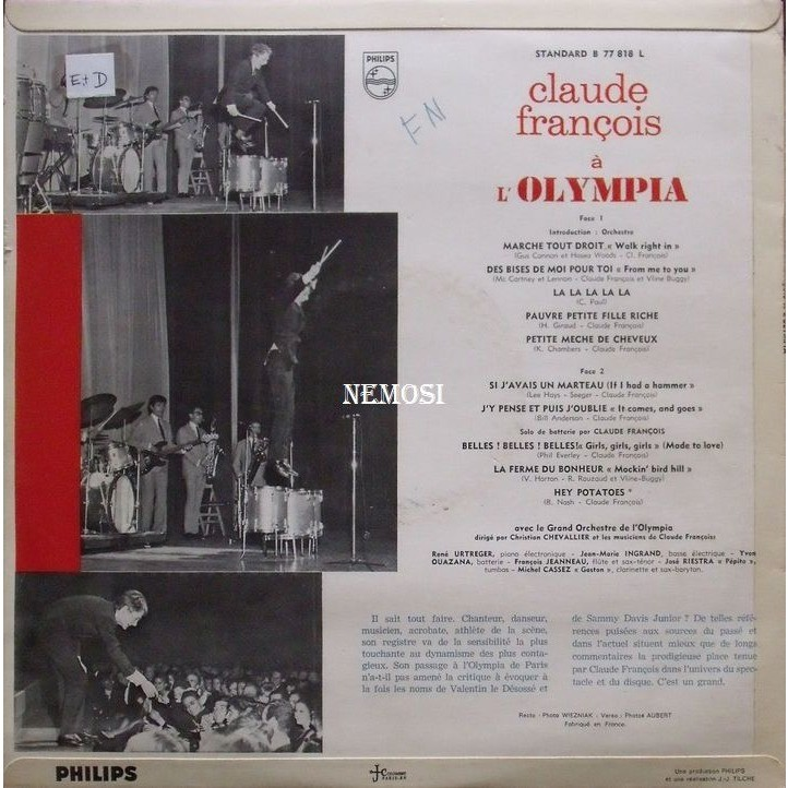 Claude FRANCOIS A L'OLYMPIA