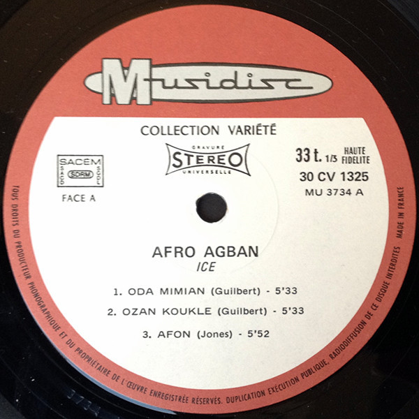 Afro agban (the afro-instrumental lp) by Ice, LP with flaming