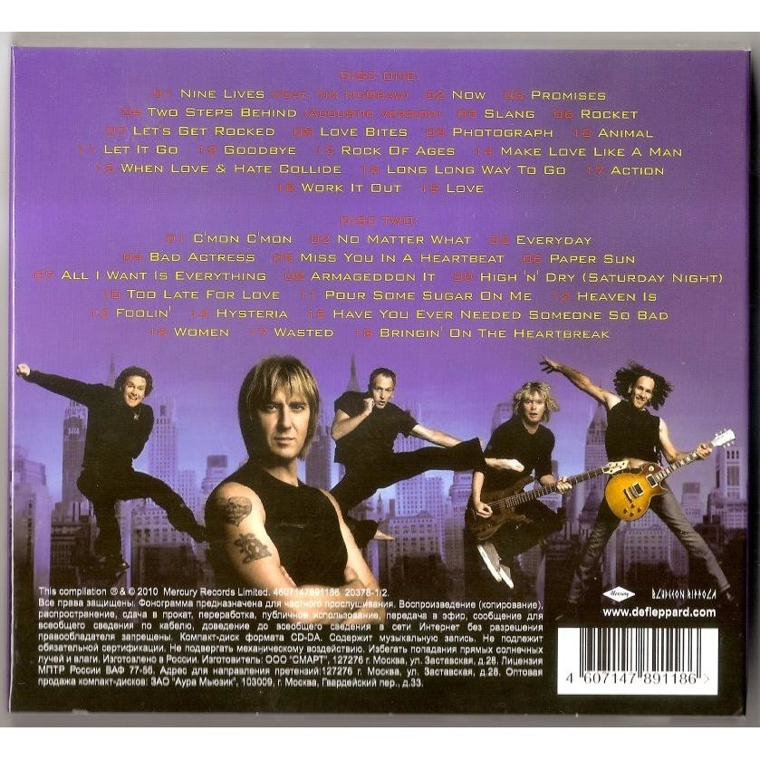 Greatest hits 2 cd new and sealed worldwide free shipping by Def Leppard,  CD x 2 with bestmusiccd
