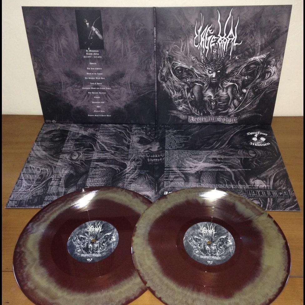 URGEHAL Aeons in Sodom. Brown & Gold Vinyl
