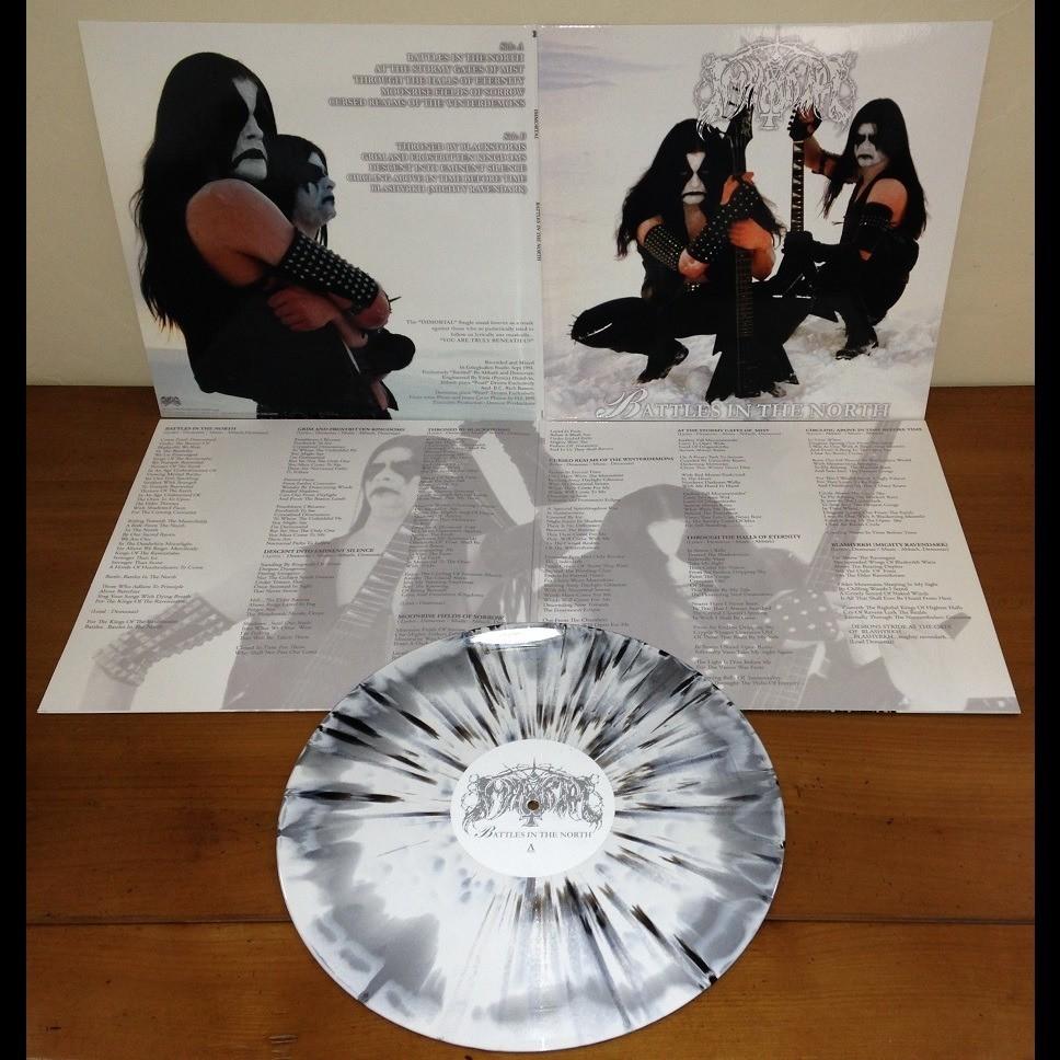 IMMORTAL Battles in the North. White&Silver Splatter Vinyl