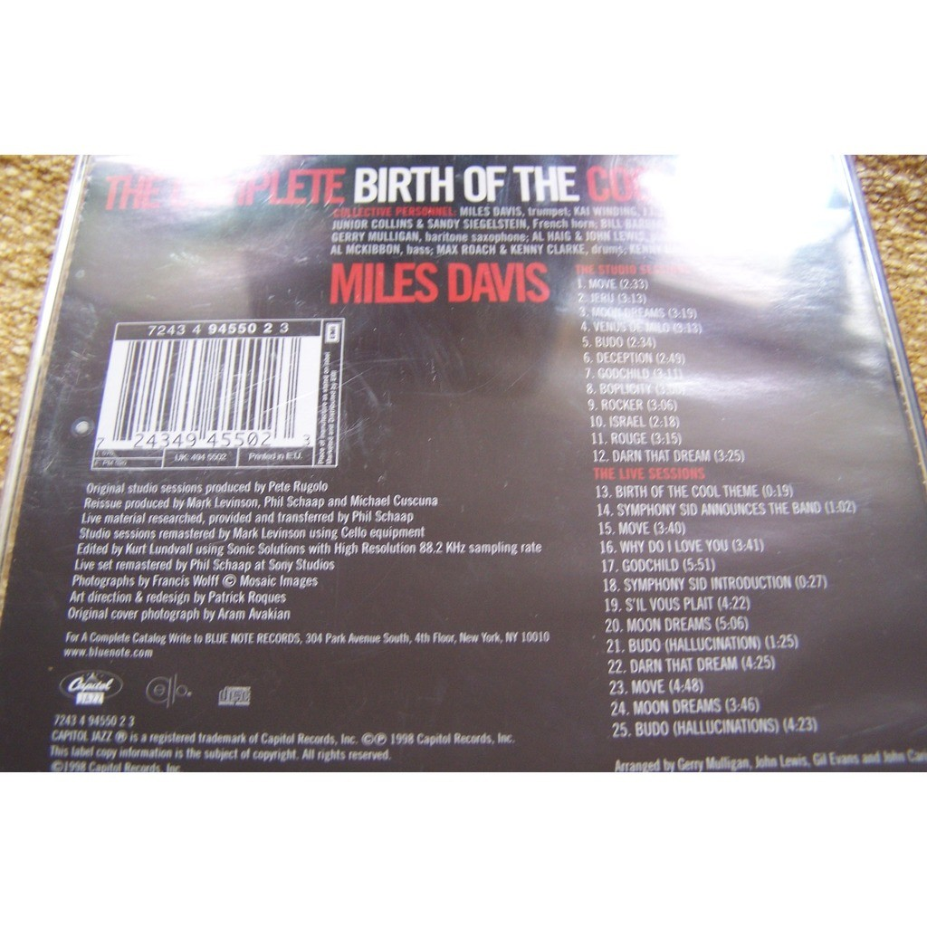 miles davis Complete Birth of the cool
