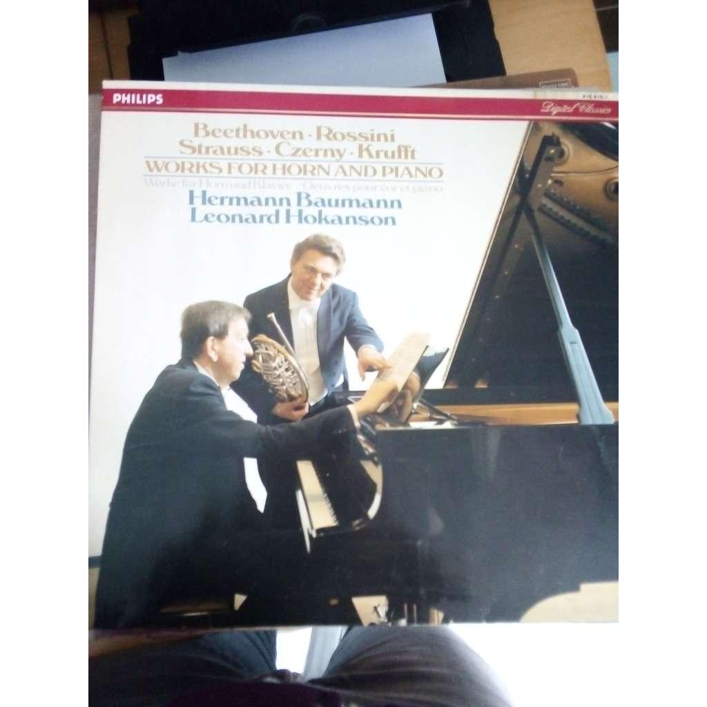Hermann Baumann et Leonard Hokanson Beethoven, Rossini, Strauss, Czerny, Krufft