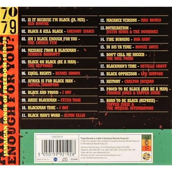 The Chosen Few , Tapper Zukie , Peter Tosh , I-Roy Am I Black Enough For You? - Jamaican Songs Of Freedom 1970-79