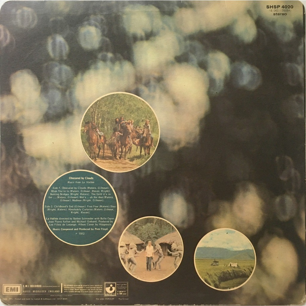 PINK FLOYD - OBSCURED BY CLOUDS (U.K. PRESSING 3rd ISSUE 12 VINYL LP)