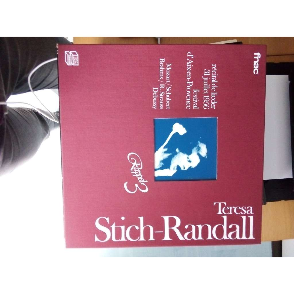 Teresa Stich-Randall Teresa stich-randall recital - works for mozart, schubert, brahms, strauss, debussy