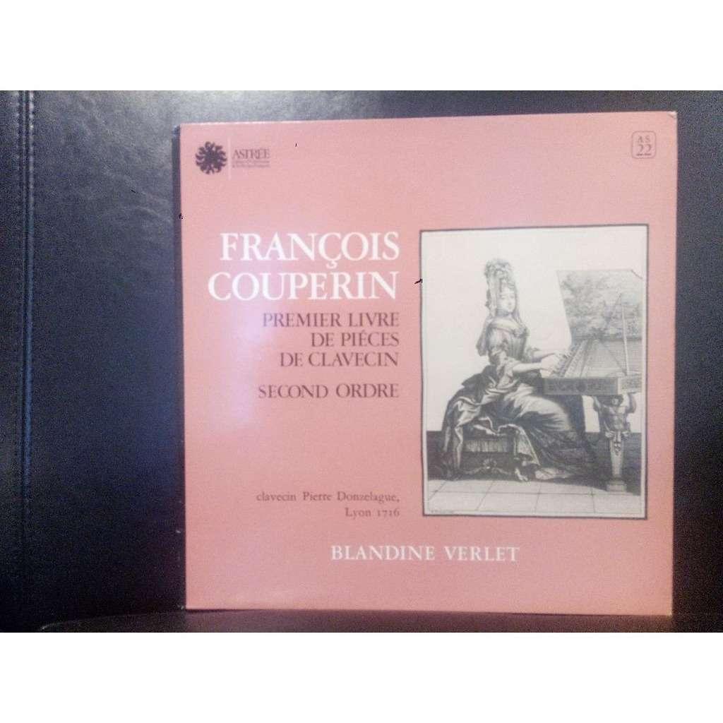 Francois Couperin Blandine Verlet Premier livre de pièces de clavecin Second ordre clavecin pierre donzelague Lyon 1716