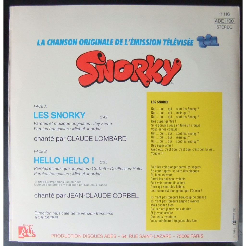 Claude Lombard & Jean-Claude Corbel Les Snorky