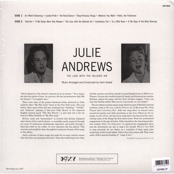 Julie Andrews The Lass With The Delicate Air (lp)