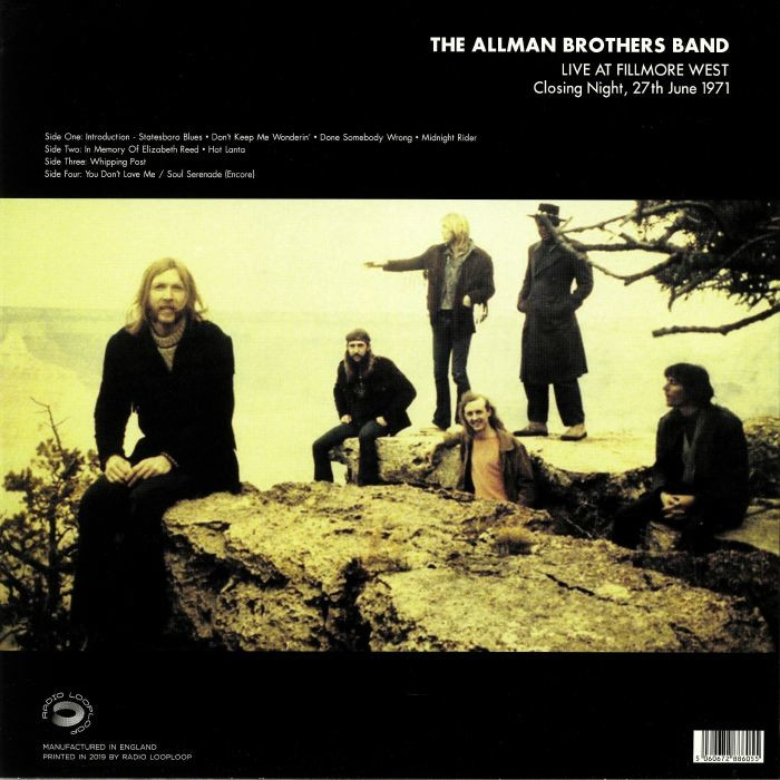 Allman Brothers Band, The Live At Fillmore West Closing Night 27th June 1971 (2xlp)