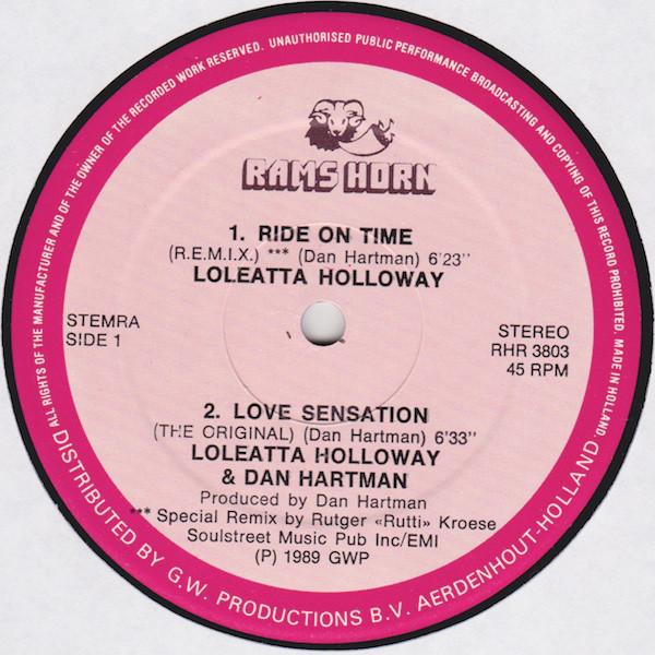 Loleatta Holloway & Dan Hartman* Ride On Time (R.E.M.I.X.) / Love Sensation (The Original)* / Hit 'N Run (Special Remixed Version)