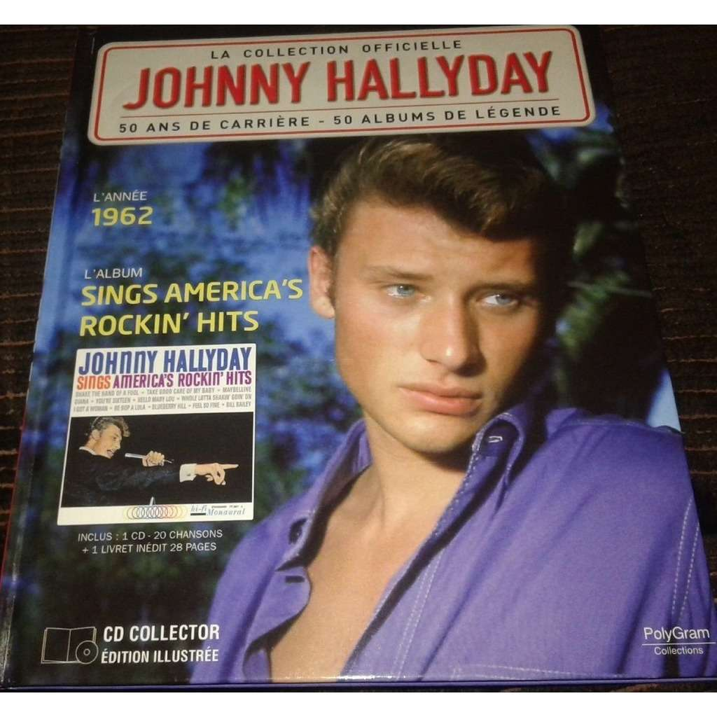 Johnny Hallyday Johnny Hallyday Livre Cd De La Collection Officielle Sings America Rockin Hits