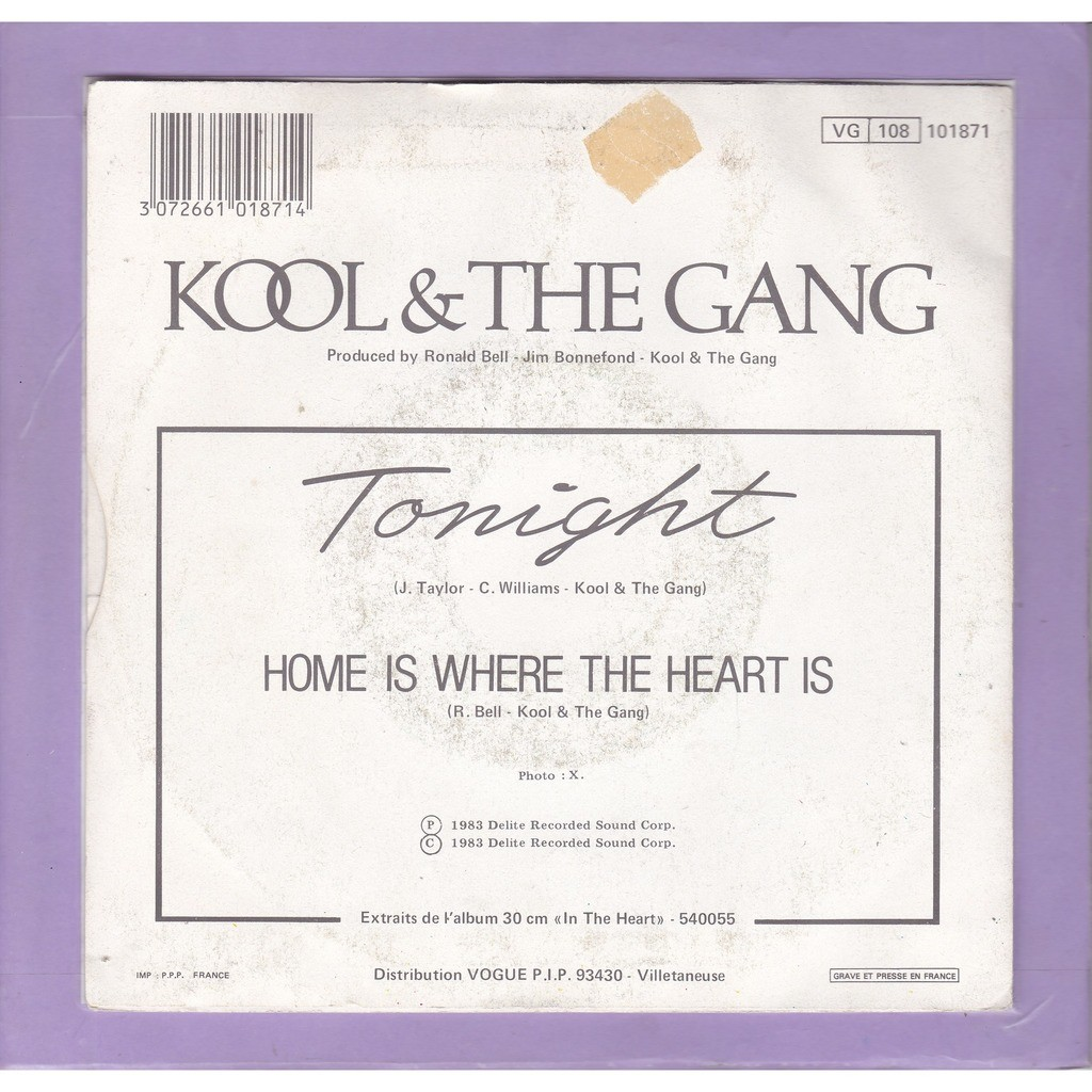 Kool & The Gang Tonight - Home is where the heart is