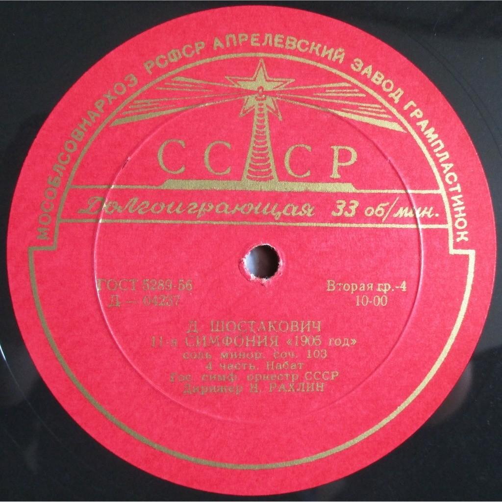 NATHAN RAKHLIN Shostakovich Symphony 11 1905 Rec.1958 LIGHTHOUSE 1st 2LP D04234 NM
