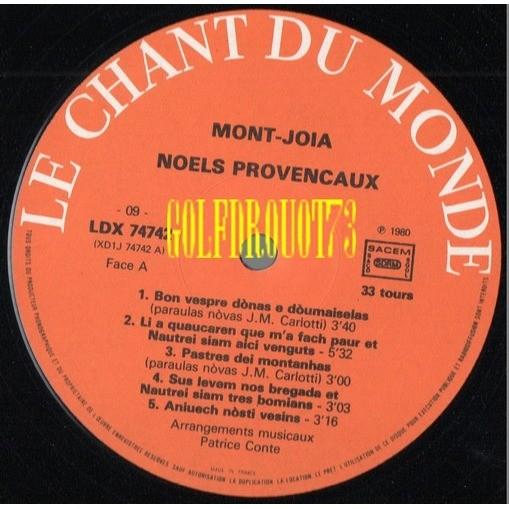 MONT-JOIA NOELS PROVENCAUX .. NAUTREI SIAM TRES BOMIANS