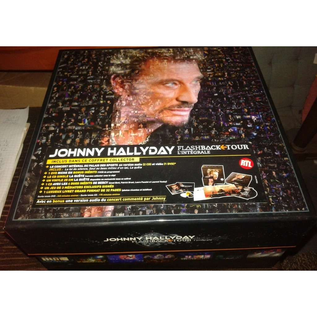 johnny hallyday JOHNNY HALLYDAY COFFRET COLLECTOR FLASHBACK TOUR (IL MANQUE LE VINYLE)