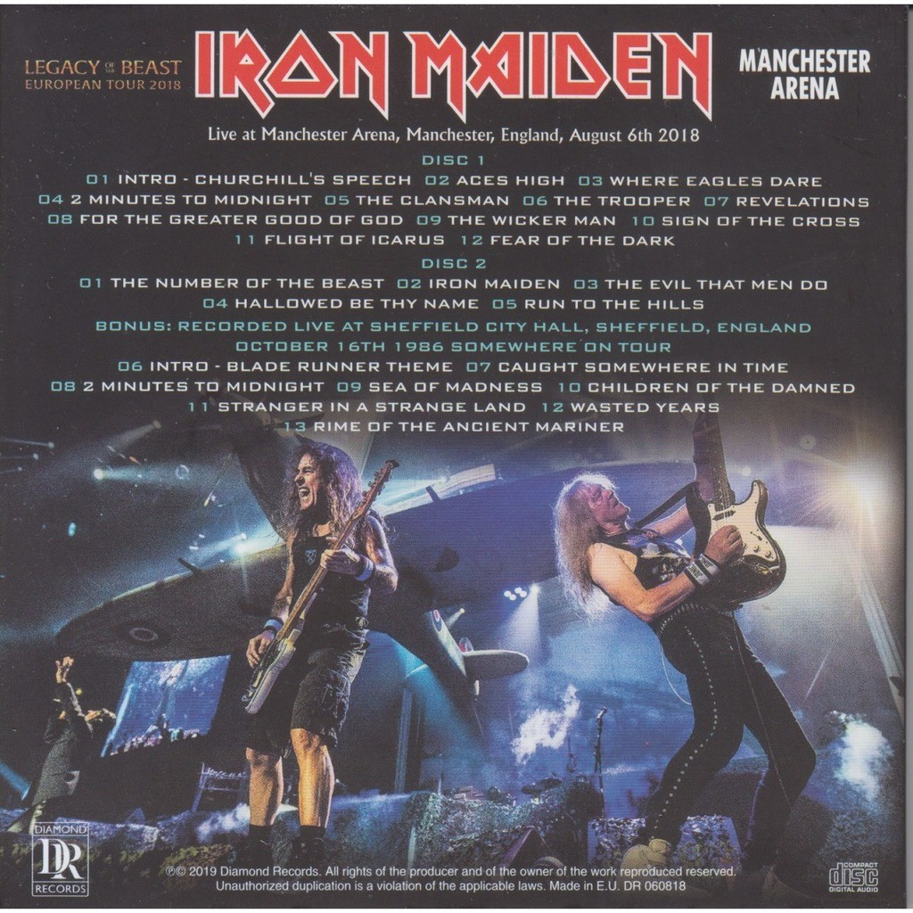 iron maiden LIVE IN MANCHESTER