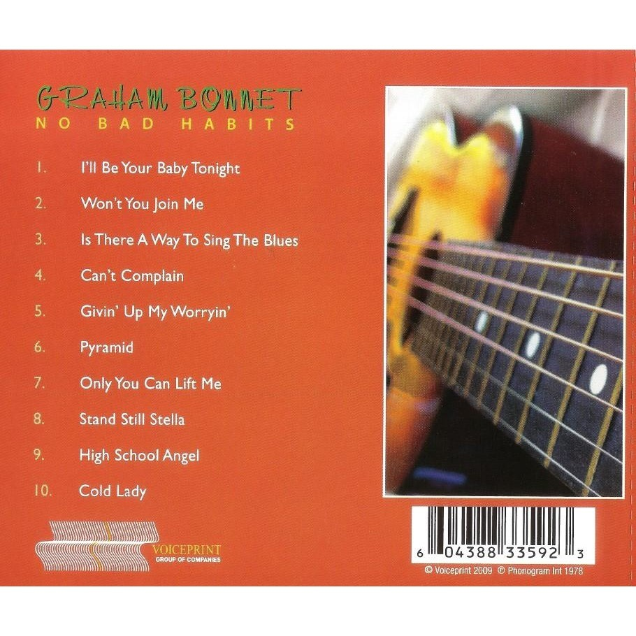Graham Bonnet No Bad Habits CD Worldwide Free Shipping