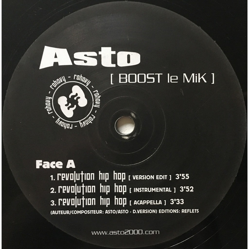 ASTO - BOOST LE MIK (FR. PRESSING 6 TRK 12 MAXI-SINGLE)